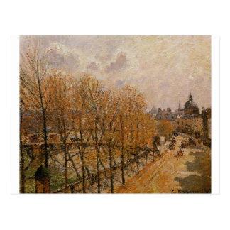 Quai Malaquais, Ochtend door Camille Pissarro Briefkaart