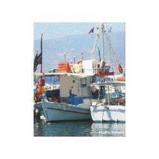 Quaint Grecian Harbor_Style 1 Canvas Bedrukken