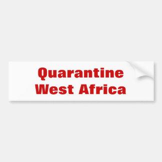 Quarantaine West-Afrika Bumpersticker