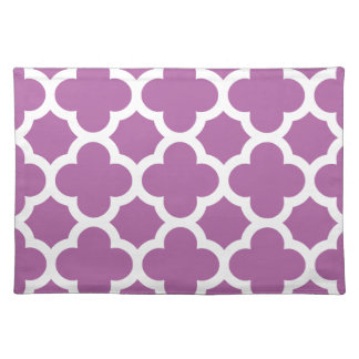 quatrefoil patroon stralende paarse orchidee placemat