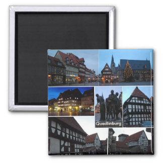 Quedlinburg Vierkante Magneet