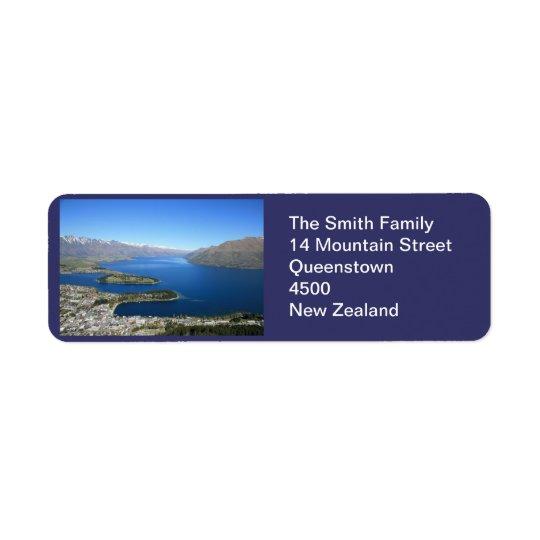 Queenstown NZ, het Klantgerichte Etiket van het Ad Retouretiket