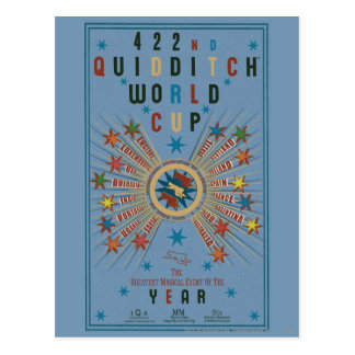 QUIDDITCH™ het Blauwe Poster van de Kop van de Briefkaart