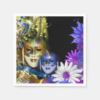 Quinceanera Venetiaanse maskers van de maskerade Wegwerp Servetten