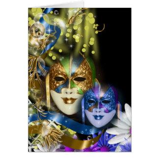 Quinceanera Venetiaanse maskers van de maskerade Wenskaart