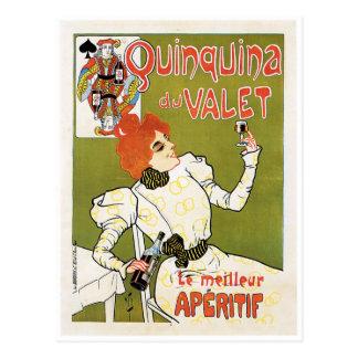 Quinquina Du Valet Le Meilleur de Advertentie van Briefkaart