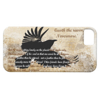 Quoth de Raaf Nevermore Edgar Allan Poe iphone5 Barely There iPhone 5 Hoesje