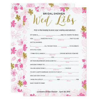 Raad en wensen voor het spel van de bruiddouche kaart