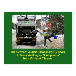 Raad van het Gedrag van Vermont de Gerechtelijke: Briefkaart