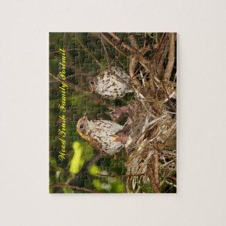Raadsel, Houten Trush, het Portret van de Familie Puzzel