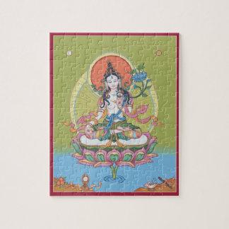 RAADSEL IN TIN - Witte Tara - Boedha van Puzzels