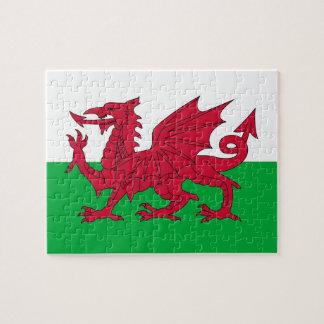 Raadsel met Vlag van Wales Legpuzzel