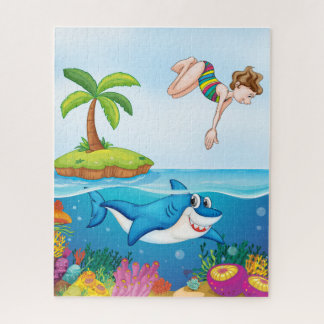 Raadsel van de Duiker van de haai & van de Vrouw, Puzzel