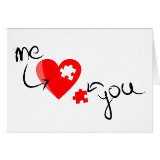 Raadsel van het Liefje van de Valentijnsdag het Briefkaarten 0