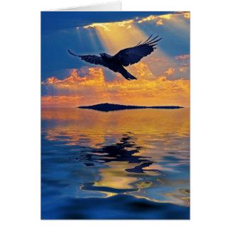 Raaf & het Wenskaart van Birdlover van de