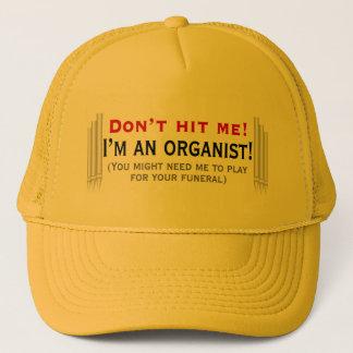 Raak me niet - ik ben een organist trucker pet