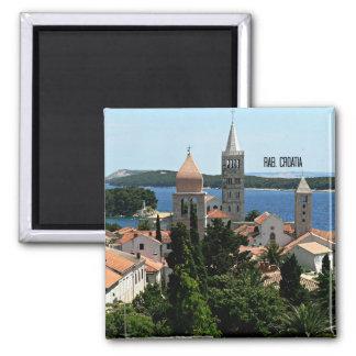 Rab, het landschapsfoto van Kroatië Vierkante Magneet