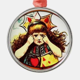 Rachel de Koningin van verstoorde Harten Zilverkleurig Rond Ornament