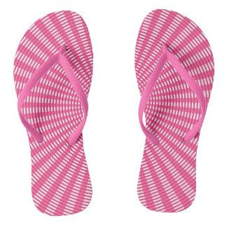 Radiaal Cirkel Wevend Patroon - Roze Teenslippers