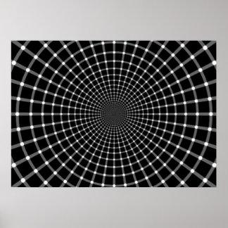 Radiale Optische illusie Poster