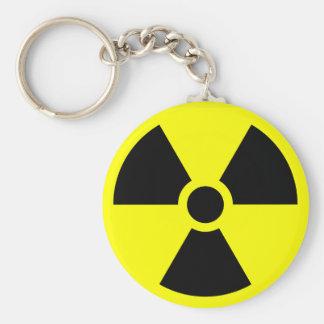 Radioactieve waarschuwing keychain sleutelhanger