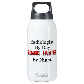 Radioloog/de Jager van de Zombie Geïsoleerde Waterfles