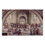 Raffaello Sanzio DA Urbino - de School van Athene Poster