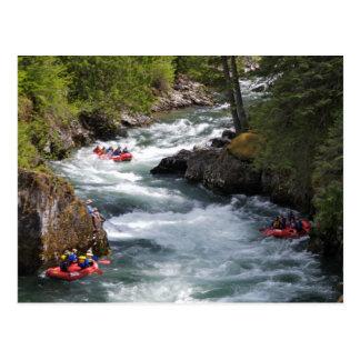 Rafting op St Joe River in Idaho Briefkaart