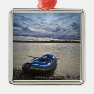 Rafting op Talkeetna Rivier, Alaska Zilverkleurig Vierkant Ornament