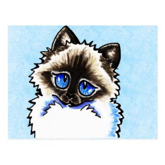 Ragdoll Geïllustreerde Ragamuffin Briefkaart