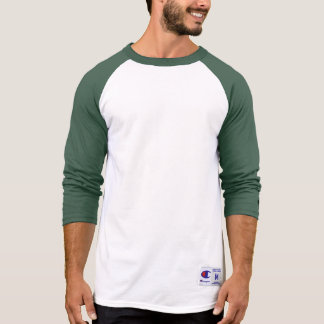 Raglan 3/4 van de Kampioen van het mannen GROENE T Shirt