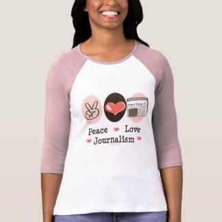 Raglan van de Journalistiek van de Liefde van de T Shirt