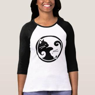 Raglan van de Katten van Yang van Yin het T-shirt
