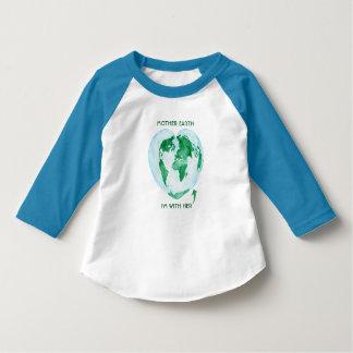 Raglan van de peuter T-shirt - de Aarde van de