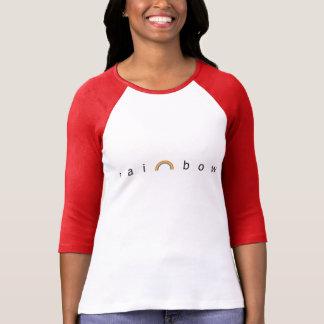 Raglan van de regenboog het T-shirt van het Sleeve
