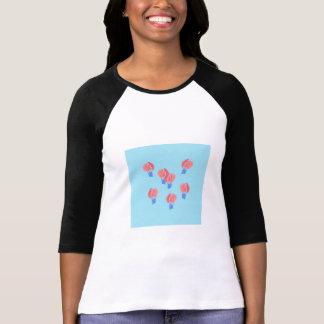 Raglan van de Vrouwen van de Ballons van de lucht T Shirt