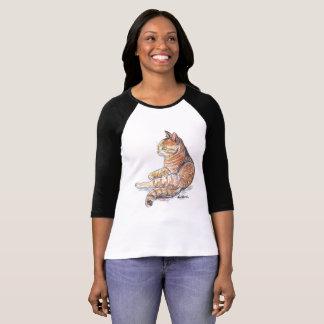 Raglan van het Kat van de herfst de T-shirt van