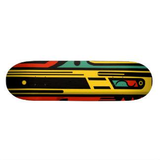RAGNAROK 2 KLEURRIJK NOORDWESTEN door 18,7 Cm Mini Skateboard Deck