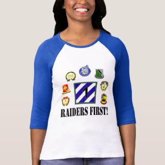 Raiders eerst! Dames 3/4 Raglan van het Sleeve T Shirt