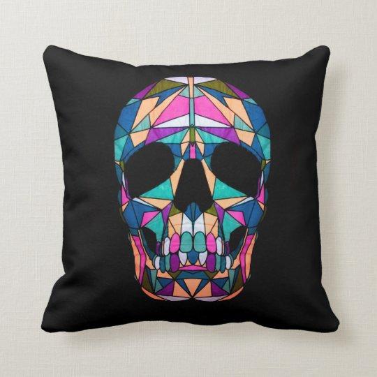 Rainbow Skull Pillow Sierkussen