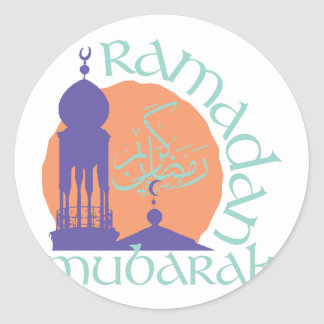 Ramadan Mubarak Ronde Sticker