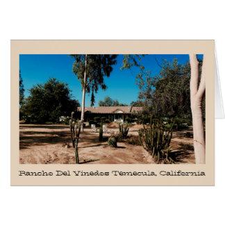 Rancho Del Vinedos Temecula wenskaartbinnenplaats Wenskaart