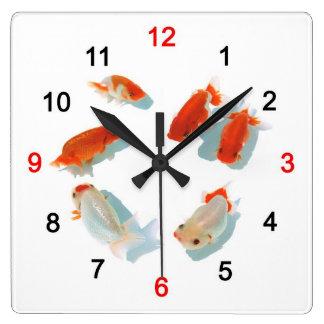 Ranchuの壁掛け時計 Vierkante Klok