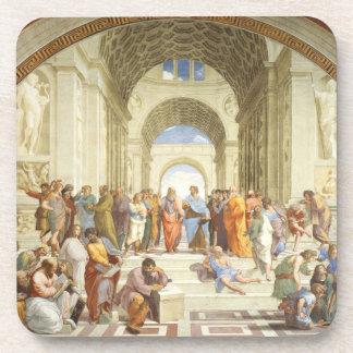 Raphael - de school van Athene 1511 Bier Onderzetter