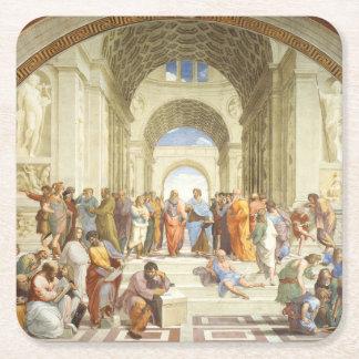 Raphael - de school van Athene 1511 Vierkante Onderzetter