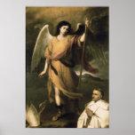 Raphael van de aartsengel met Bischop Domonte Afdruk