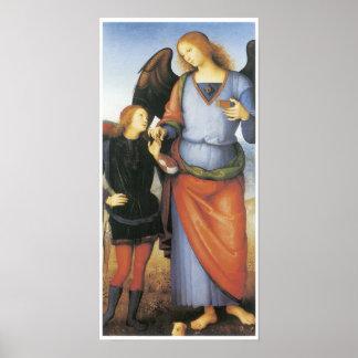 Raphael van de aartsengel met Tobias, c. 1496-1500 Poster