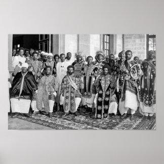 Ras Tafari met Ethiopische Royalty Poster