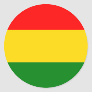Rasta Ronde Sticker
