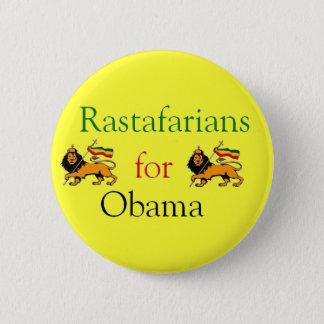 Rastafarians voor Obama Ronde Button 5,7 Cm